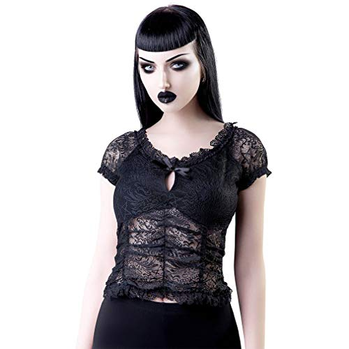 Killstar Holly - Blusa de encaje Negro XXL