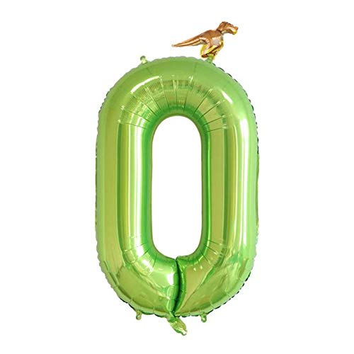 ypypiaol 40 Pulgadas 0-9 Número Globos De Dinosaurios Decoración De La Decoración del Día De Cumpleaños De La Fiesta De La Selva De Pascua 0# D
