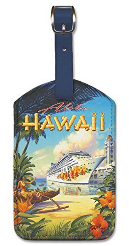 Pacifica Island Art Leatherette Luggage Baggage Tag - Pride of Hawaii by Erickson
