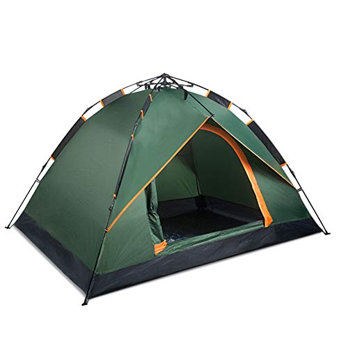 DULPLAY Automatic pop up 3-4people Camping Tent, Family Tent Dome for Outdoor Family Beach with Carry Bag-Green 210x150x120cm(83x59x47inch)