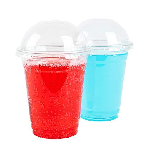 GOLDEN APPLE, 12oz 30sets. Clear Plastic Cups with Dome lids No hole, Parfait cups, Dessert cups, BPA Free