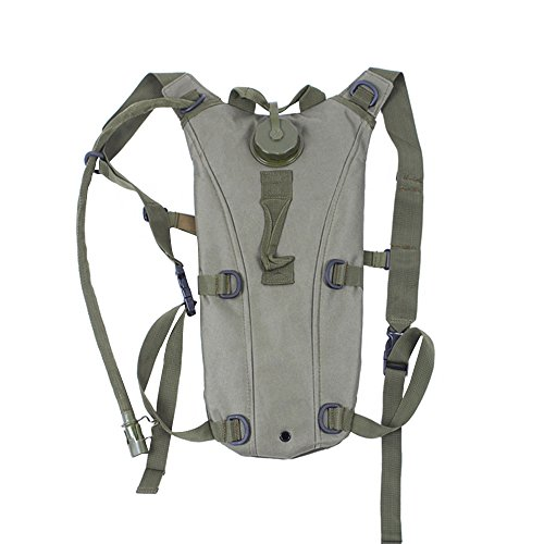 Sports de plein air Camping randonnée escalade voyage Portable 3L hydratation système eau potable vessie sac pochette sac à dos vert d'armée