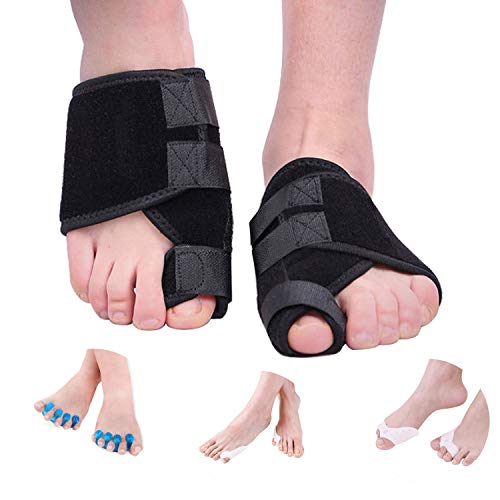 Bunion Corrector Relief Kit Bunion Splint, Big Toe Corrector Separators Spacers, Toe Straightener Brace Straighteners, Hammer Toe, Hallux Valgus, Toe Joint Pain Relief Aid for Men and Women