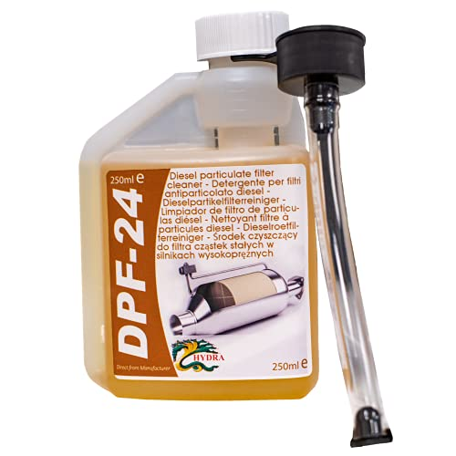 HYDRA DPF-24 DPF Cleaner DPF Filter Cleaning Diesel Particulate Filter Cleaner with DPF Cleaner Fluid for Reduced DPF Cleaner Cost Easy To Use Fuel Additive, 250ml treats up to 60L
