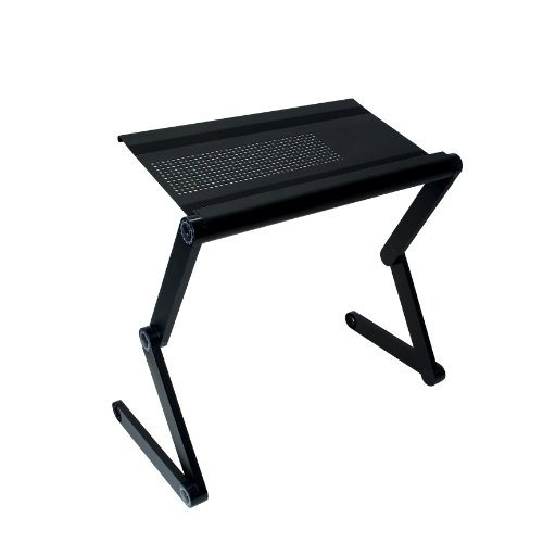For Sale! Adjustable Vented Laptop Table Laptop Computer Desk Portable Bed Tray Book Stand Push Butt...