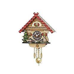 Trenkle Kuckulino Black Forest Clock with Quartz Movement and Cuckoo Chime TU 2056 PQ