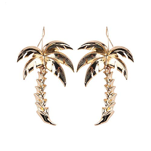 Metalen palmboom hanger oorbellen vrouwelijke sieraden mode-persoonlijkheid oorbellen