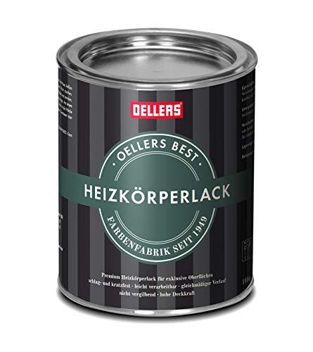 Premium Heizkörperlack | 1 Liter | RAL 9001 Cremeweiß | seidenglänzend | verbesserter Vergilbungsschutz