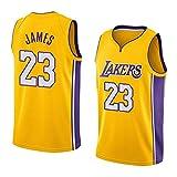 BUFJ Herren Basketball Uniform Lakers No.23 James Basketball Uniform Atmungsaktiv Sportbekleidung...