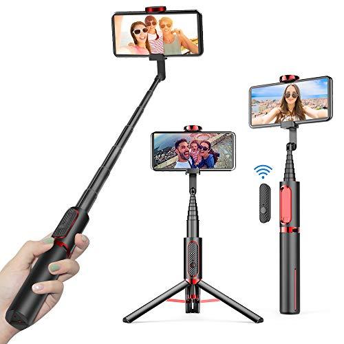 doosl Bastone Selfie Bluetooth, Estensibile Selfie Stick Monopiede con Telecomando Bluetooth Compatibile per Smartphone