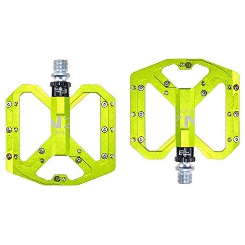 XYXZ Pedales de Plataforma para Bicicleta Pedal de Bicicleta Plano CNC, Pedal de Bicicleta, Aleación de Aluminio Antideslizante Durable Pedal de Plataforma de 9/16 ciclos Bicicleta híbrida 1