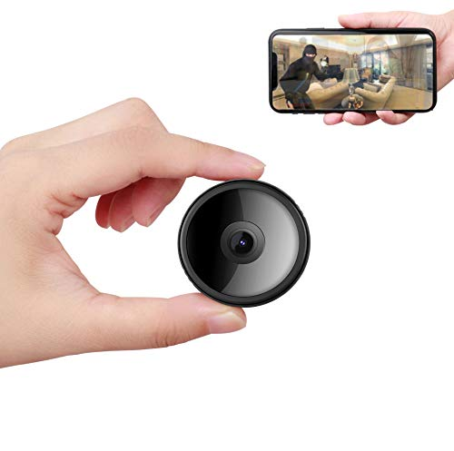 CreateGreat Mini WiFi Spy Camera 32GB,Wireless Hidden Camera for Home, Portable 1080P Small HD Nanny Baby Cam,Night Vision and Motion Detective,Live Streaming - Micro SD Card 32GB