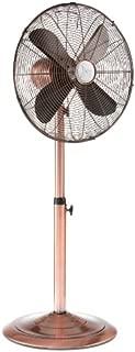 DecoBREEZE Pedestal Fan Adjustable Height 3 Speed Oscillating Fan, 16 In, Brushed Copper