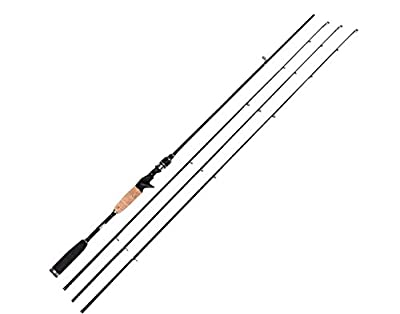 Entsport E Series - Rattlesnake 2-Piece 7-Feet Casting Rod with 3 Top Pieces Graphite Baitcasting Fishing Rod Portable Baitcast Rod Baitcaster (Medium Heavy, Medium and Medium Light)