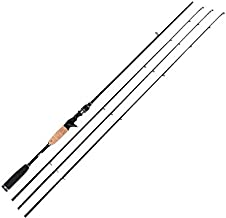 Entsport 2-Piece Casting Rod (Casting Rod with 3 Top Pieces, 7-Feet)