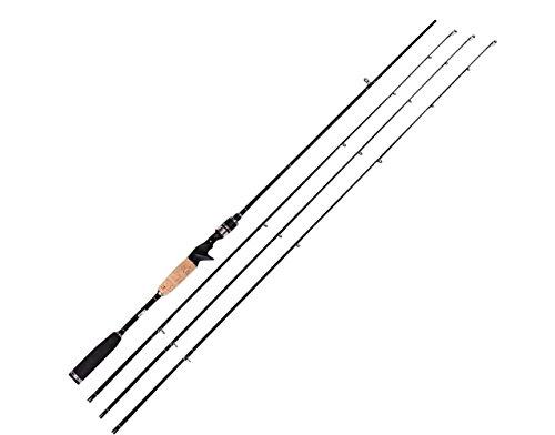 entsport 2-teilige Casting Rod (Gussstange mit 3 Oberteilen, 2 Fuß)