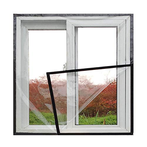 SHIJINHAO Abdeckplane Holz, Kälteschutz Versiegeltes Fenster PVC Isolationsfolie Winterdämmung Schlafzimmer Winddicht warm, 15 größen (Color : Black, Size : 160x220cm)