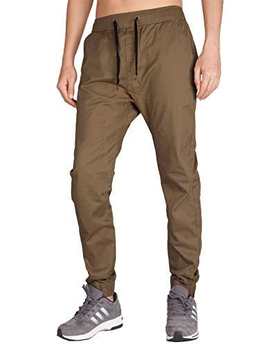 ITALY MORN Hombre Jogging Pantalones Stretch Skinny Largo M