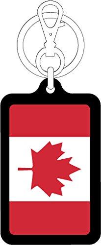 K-SK214 カナダ CANADA 100円国旗ステッカー キーホルダー (BLACK)