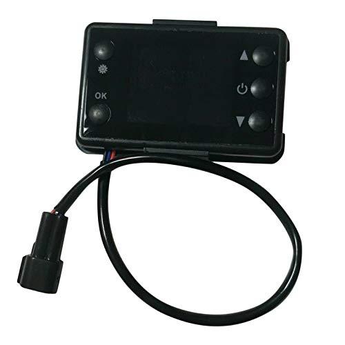 CamKpell 12 V / 24 V 3 / 5KW LCD Monitor Standheizung Schalter Auto Heizung Gerät Controller Universal für Auto Track Lufterhitzer - schwarz
