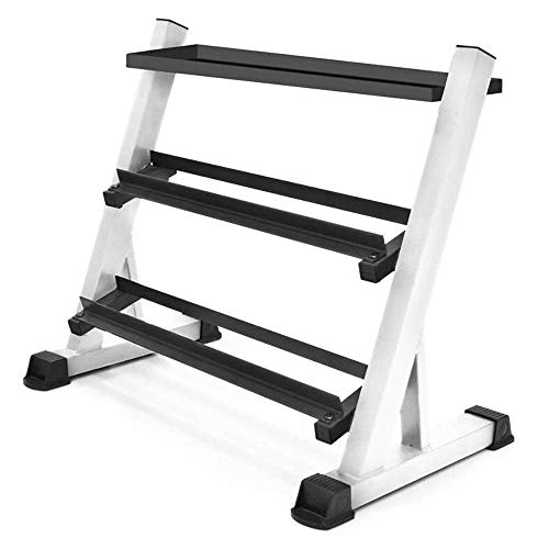 Marcy 3 Tier Solid Steel Dumbbell Rack for Home and Gym Workouts - Free Weight Storage Stand