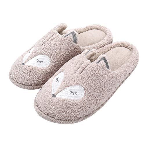 Womens Cute Animal Slippers Soft Fl…