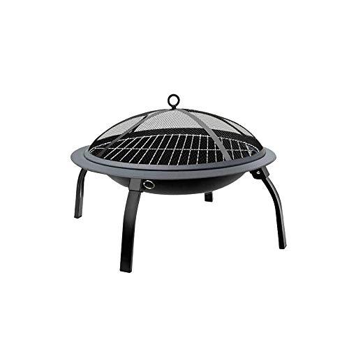 UNU_YAN Moderne Einfachheit Barbecue Grill, Haushalt Indoor Holzkohlegrill Herd Heizung Brazier Außen bewegliche Faltbare Gartengrill, 56X56x24cm