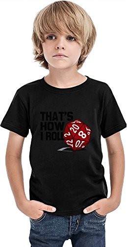 Styleart That's How I Roll - Camiseta para niños, Negro, 4-5 Años