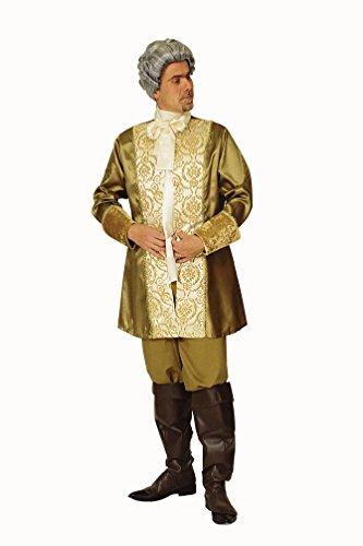Karneval-Klamotten Barock-Kostüm Rokoko Herren-Kostüm Gold GRAF Edelmann Renaissance Kostüm Herren Karneval