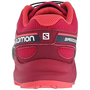 Salomon Kids' Speedcross J Trail Running Shoes, Cerise/Navy Blazer/Dubarry, 4 Child US