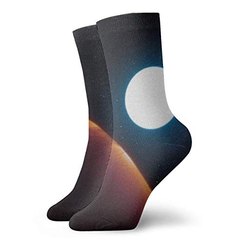 huatongxin Universe Dazzling Planet Adult Calcetines Cotton Gym Short Calcetines For Yoga Hiking Cycling Running Soccer Sports
