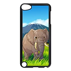 Animal Elephant Customized Durable Hard Plastic Case Cover LUQ174114 For Ipod Touch 5