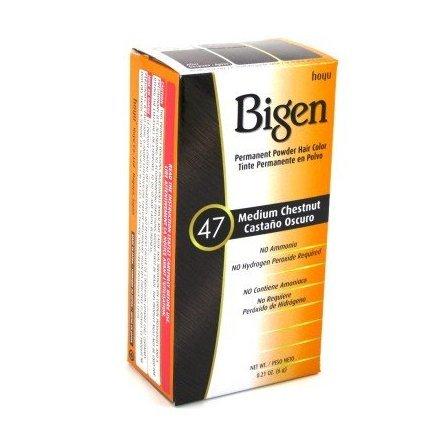 Bigen Powder Hair Color #47 Medium Chestnut .21 oz. (Case of 6)