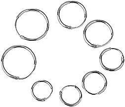 4 Pairs 925 Sterling Silver Endless Hoop Sleeper Oorbellen Studs Ear Helix Hoop Huggie Stud Sleeper Oorbellen Piercing (O...