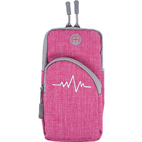 WWWWW sporttas voor arm 9.5 × 18,5 cm stof comfortabel en zacht warmte ademend genereert tijdens de training Fisico kan worden verlengd tijdens de sporttas.