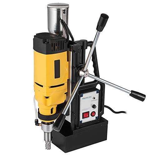Mophorn Magnetic Drill 1680W Magnetic Drill Press with 2 Inch Boring Diameter Annular Cutter Machine 2900 LBS 6pcs HSS Annular Cutter Bits
