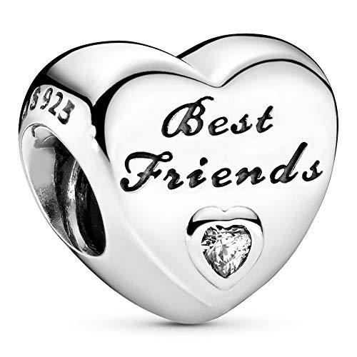 Pandora Jewelry Friendship Heart Cubic Zirconia Charm in Sterling Silver