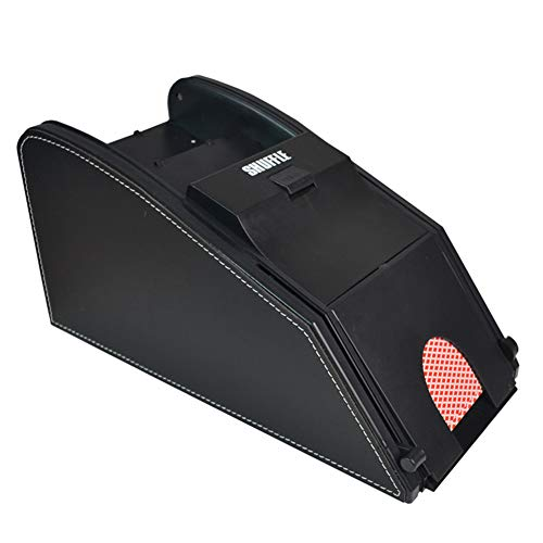 2 in 1 Electric Automatic Card Shuffler Licensing Machine - Quiet and Easy to Use - Great for Home Tournament, Classic Trading Games, Blackjack