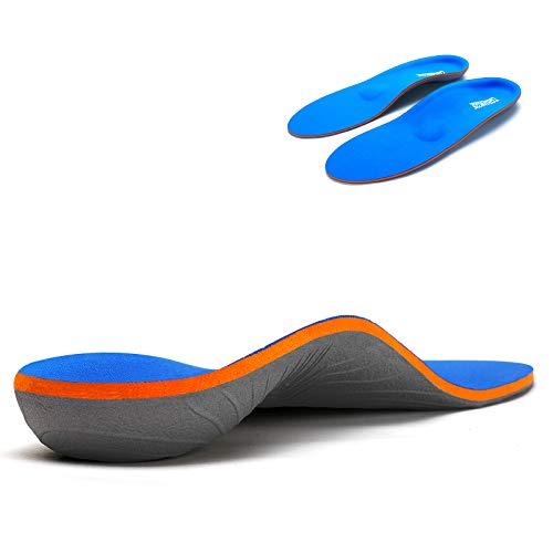 Orthopädische Einlegesohlen, volle Länge, für Plattfüße, Plantarfasziitis und lindert Fußkater für Männer und Frauen, geeignet für Sport- und Arbeitsschuhe