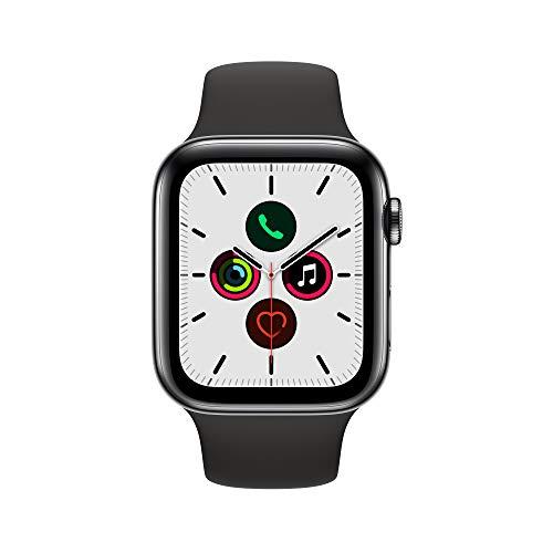 Apple Watch Series 5 (GPS+Cellular, 44 mm) Boîtier en Acie