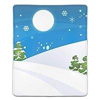 マウスパッド 防水 耐久性が良い 滑り止めゴム底 滑りやすい表面 マウスの精密度を上がる シンプルなクリスマス雪の世界
