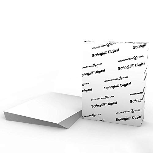 Springhill White Cardstock Paper, 110lb Index, 199gsm, 8.5 x 11 card stock, 1 Ream / 250 Sheets - Heavy Cardstock with Smooth Finish (015300R)