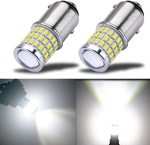 BAY15D p21/5w 12v 24v 1157 Lampadina led, Super Bright con Proiettore, Xenon Bianco, per luci di posizione, luce dei freni, fanali posteriori, 2 Pz