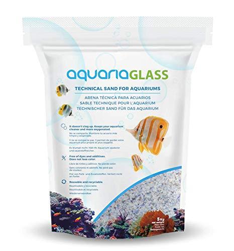 AquariaGlass Arrecife Arena Técnica Fina para Acuarios y Peceras, Evita la Compactación y Aumenta la Higiene, Limpieza y Durabilidad del Agua de Acuario, Multicolor - Saco de 5kg
