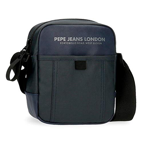 Pepe Jeans Factory Bandolera Azul 15x19,5x6 cms Poliéster y PU