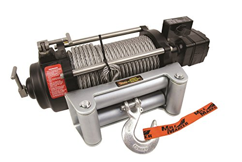 Mile Marker Low Pressure Power Steering Hydraulic Winch (9,100-12000 lb Capacity), Silver (75-50058C)