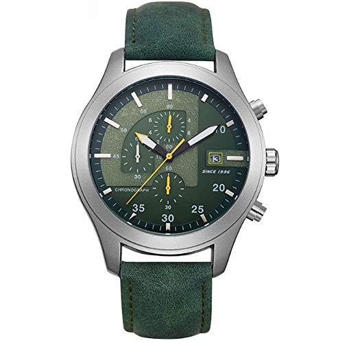 Relojes mecánicos for los hombres del cronógrafo de acero inoxidable resistente al agua Fecha de cuarzo analógico de visita de moda de los relojes for los hombres minimalista de los relojes de la corr