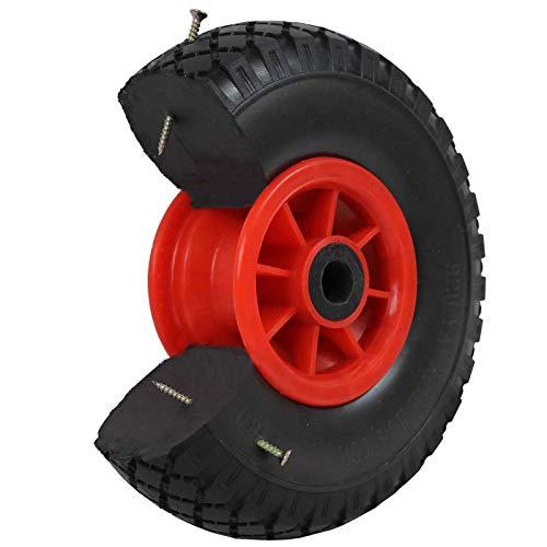 2x Sackkarrenrad Pannensicher 260mm 3.00-4 PU Sackkarre Ersatzrad Rad Reifen