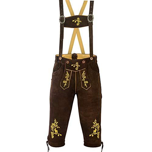 ATTONO - Pantaloni per Costume Tradizionale Bavarese, in Pelle, da Uomo, 54/XL