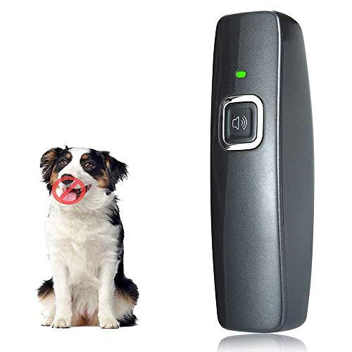 CYWEB Anti-Bellen-Gerät, Ultraschall-Hundebellen Hunderkontrolle für den Innen Außenbereich Anti Bellen Stop Rinde Handheld Hunde Trainingsgerät für Hunde 100% sanft & sicher